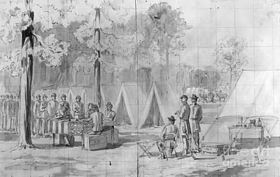 Ballot Wall Art - Photograph - Civil War: Voting, 1864 by Granger