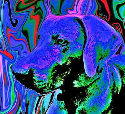 Puppies Mixed Media - CJ by Julie Hiskett