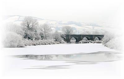 Snowscape Mixed Media - Clady Bridge Winter by Jim Hamilton