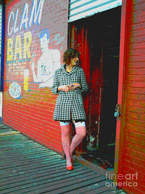 Photograph - Clam Bar - Coney Island New York by Brenda Kato