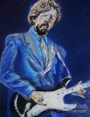 Clapton Jams Blue Art Print by Emily Michaud