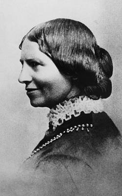 1880s Portaits Photograph - Clara Barton 1821-1912, American by Everett