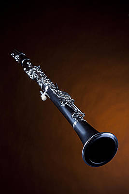 Photograph - Clarinet Isolated Gold Spotlight by M K Miller