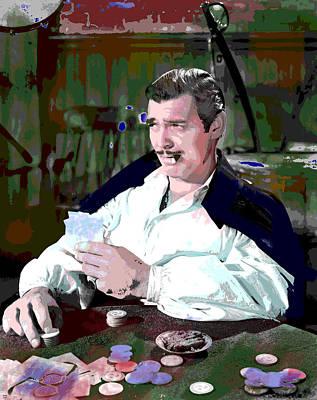 Clark Gable Art Print by Charles Shoup