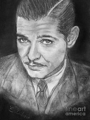 Drawing - Clark Gable by Elisabeth Dubois