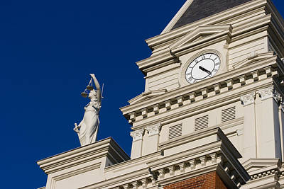 Photograph - Clarksville Historic Courthouse by Ed Gleichman