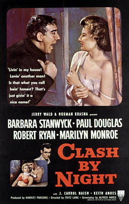 Subject Poster Art Photograph - Clash By Night, Paul Douglas, Barbara by Everett