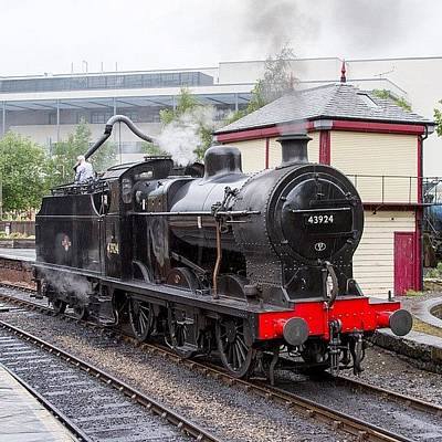 Steam Photograph - Class 4f 43924 At Keighley #uk #great by Dave Lee