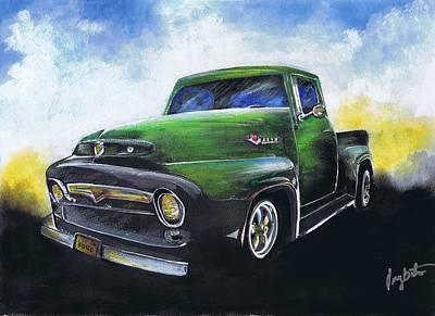 Classic 56 Ford Truck Art Print