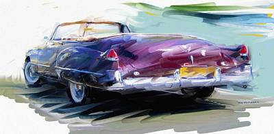 Digital Art - Classic Cadillac Convertible  by RG McMahon