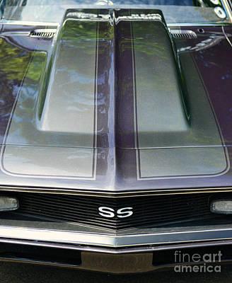 Classic Camaro Ss Hood Cowl Art Print by Paul Ward