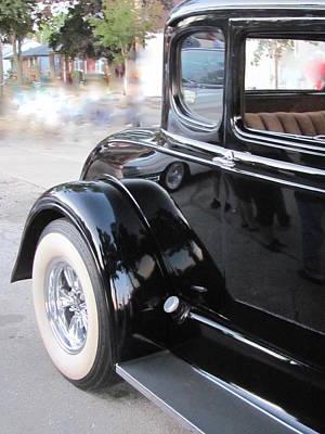 Photograph - Classic Car Black 3 by Anita Burgermeister