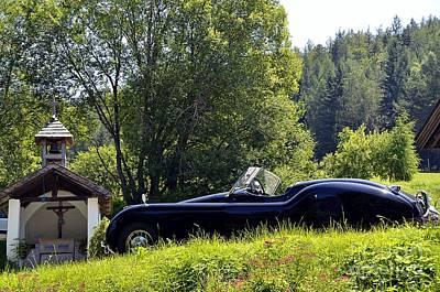 Classic Car Jaguar Xk120 Art Print
