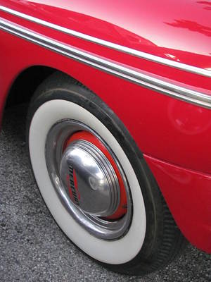 Photograph - Classic Car Mercury Red 1 by Anita Burgermeister