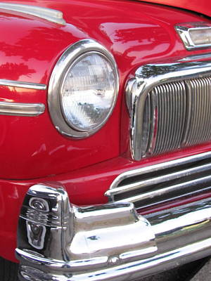 Uncle Sam Posters Rights Managed Images - Classic Car Mercury Red 2 Royalty-Free Image by Anita Burgermeister