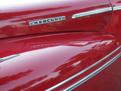 Photograph - Classic Car Mercury Red 4 by Anita Burgermeister