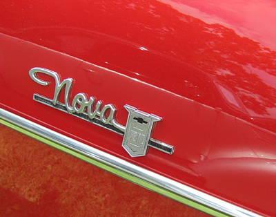 Photograph - Classic Car Red Nova by Anita Burgermeister