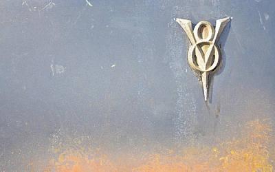 Photograph - Classic Car V8 Emblem by Carolyn Marshall