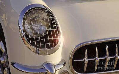 Photograph - Classic Carvette Headlight by M K Miller