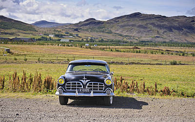 Photograph - Classic Chrysler Crown Imperial Sedan On A Ranch In Iceland by Marianne Campolongo