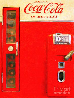 Classic Coke Dispenser Machine . Type 2 Art Print by Wingsdomain Art and Photography