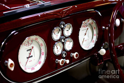 Art Print featuring the photograph Classic Gauges by Jason Abando