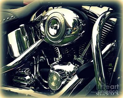 Classic Harley Art Print by Emily Kelley