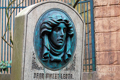Photograph - Classic Leota Moving Eyes Headstone Haunted Mansion Magic Kingdom Walt Disney World Prints by Shawn O'Brien