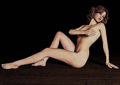 Painting - Classic Pose by Maynard Ellis