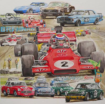 classic Racing 07 Art Print by John  Archbold