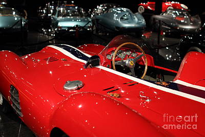 Photograph - Classic Red Ferrari Race Car . 7d1853 by Wingsdomain Art and Photography