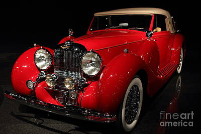 Classic Red Lagonda . 7d1730 Print by Wingsdomain Art and Photography
