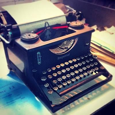 Typewriter Photograph - #classic #retro #old #typewriter by Ben Lowe