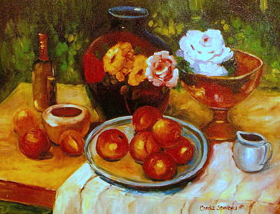 Painting - Classic Still Life  Painting Westmount Garden by Carole Spandau