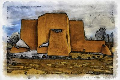 Digital Art - Classic View Aquarell by Charles Muhle