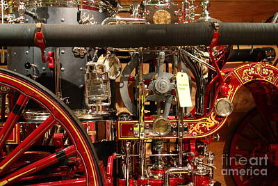 Classic Vintage Fire Engine . 7d13130 Art Print by Wingsdomain Art and Photography