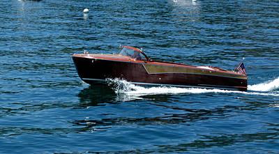 Yacht Photograph - Classic Wooden Boat by LeeAnn McLaneGoetz McLaneGoetzStudioLLCcom