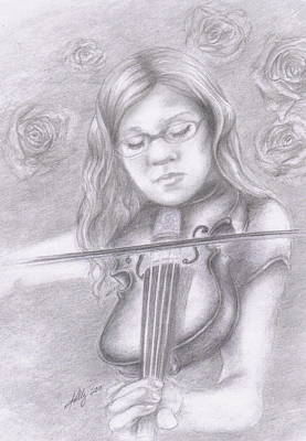 Grayscale Drawing - Classical Beauty by Kathleen Kelly Thompson