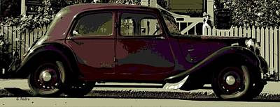 Citroen Digital Art - Classical French by George Pedro