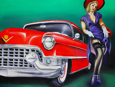 Old Car Painting - Classy Chassis by Brittany Prichard