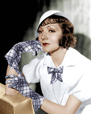 Thin Eyebrows Photograph - Claudette Colbert, Ca. 1933 by Everett