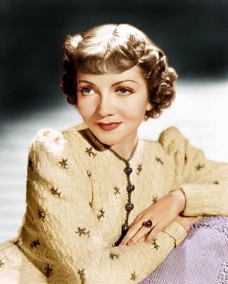 Incol Photograph - Claudette Colbert, Ca. 1939 by Everett
