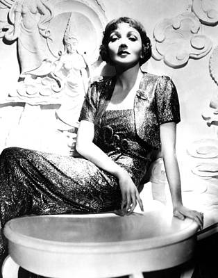 Gold Lame Photograph - Claudette Colbert In The Early 1930s by Everett