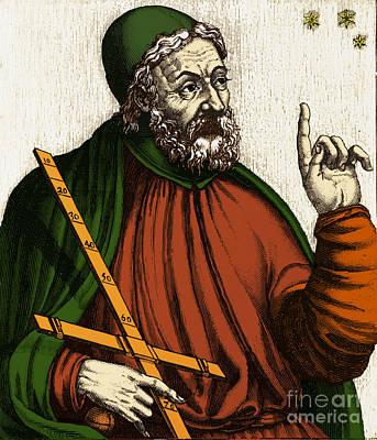 Claudius Ptolemy, Greek-roman Polymath Art Print by Photo Researchers