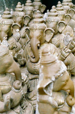 Bangalore Photograph - Clay Idols Of Lord Ganesha by Rags KS Photography