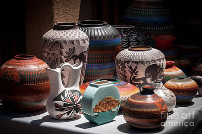 Photograph - Clay Pots - Color by Sherry Davis