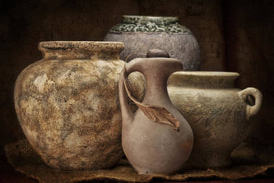 Jars Photograph - Clay Pottery I by Tom Mc Nemar