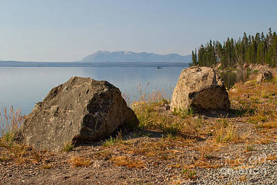 Scenery Photograph - Clear Air At Yellowstone Lake by Charles Kozierok