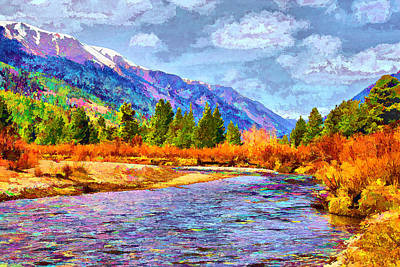 Clear Creek Vista Art Print by Brian Davis