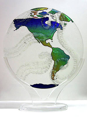 Glass Art - Clear Skies In God's Eyes by Michelle Ferry